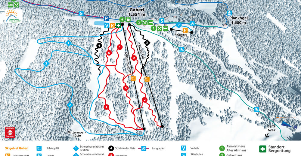 Piste map Ski resort Gaberl