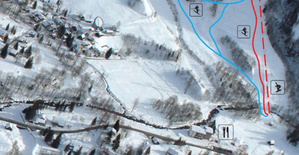 Planul pistelor Zonă de schi Mogno