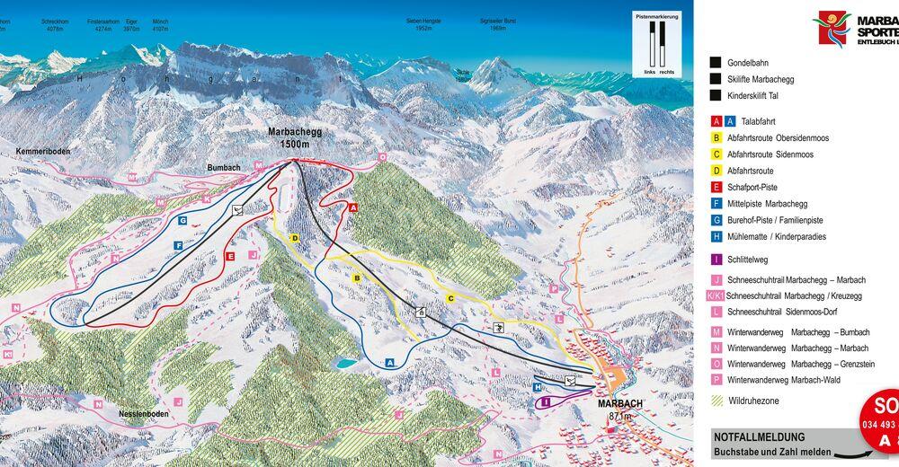 Plan de piste Station de ski Marbach - Marbachegg