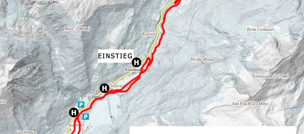 Loipenplan Tux - Finkenberg / Zillertal