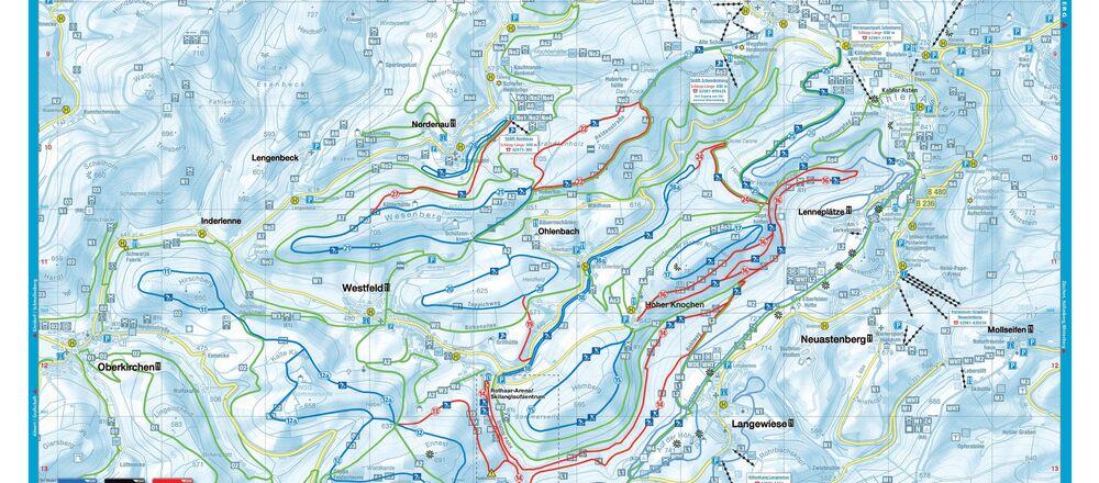 Loipenplan Skilanglaufzentrum Hochsauerland Westfeld/Ohlenbach