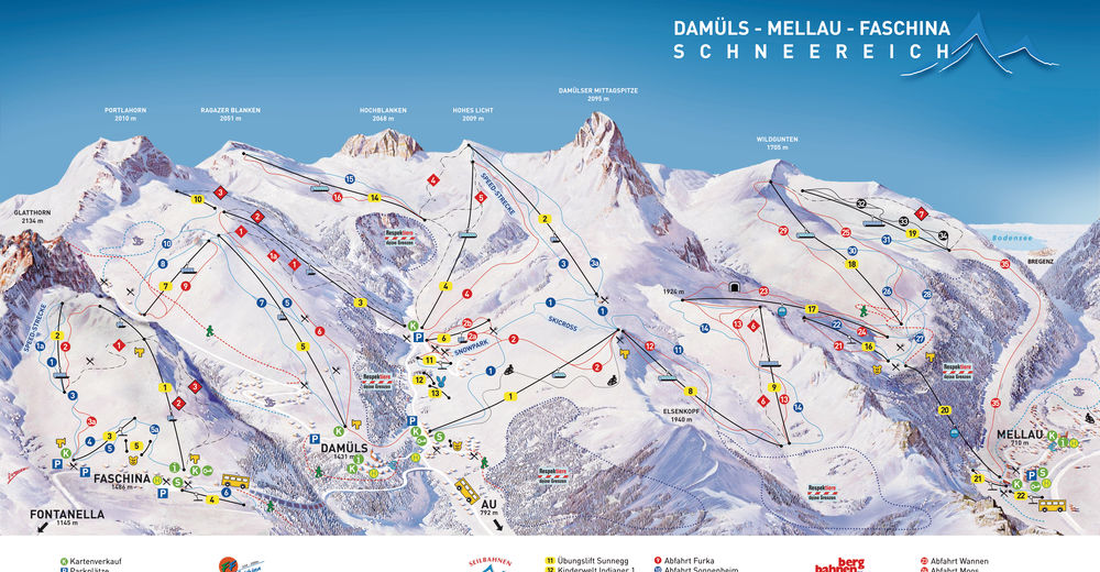 Piste map Ski resort Faschina - Fontanella