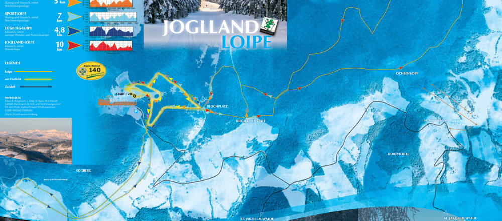 Loipenplan Jogllandloipe in St. Jakob im Walde