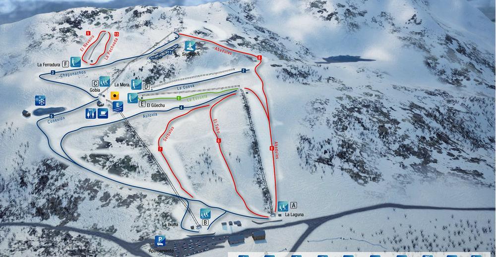 Plano de pista Estación de esquí Leitariegos