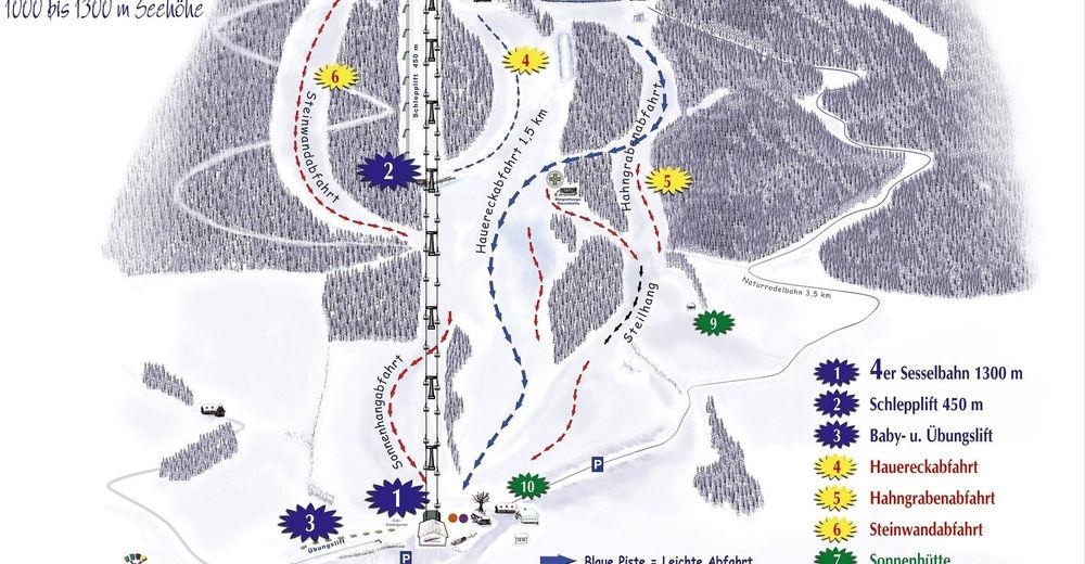 Plan de piste Station de ski Hauereck St. Kathrein am Hauenstein
