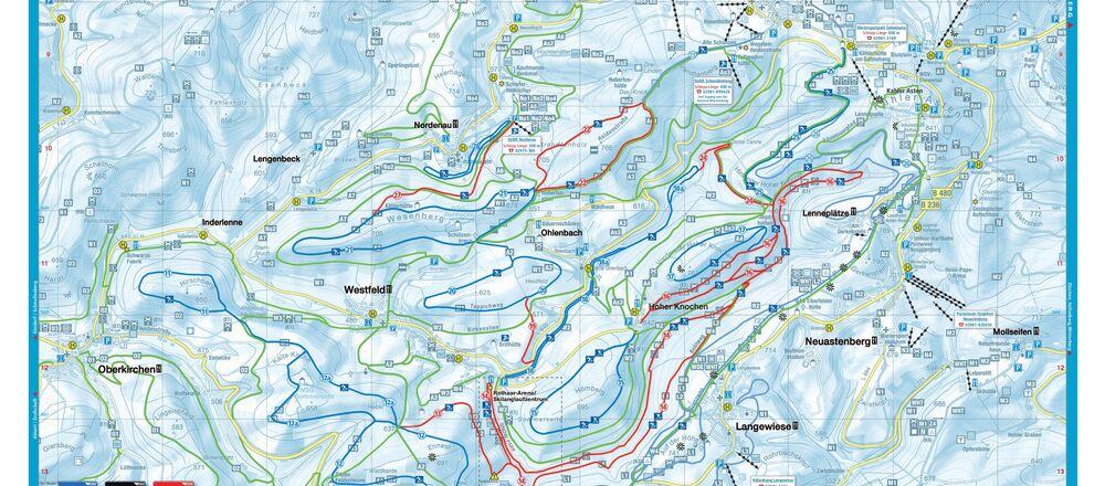 Loipenplan Hunau / Schmallenberg