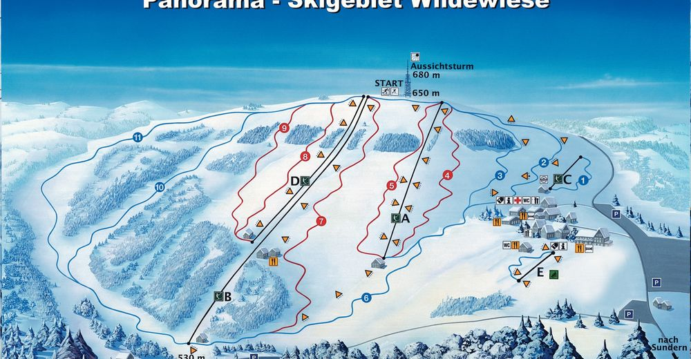 Piste map Ski resort Sundern - Wildewiese