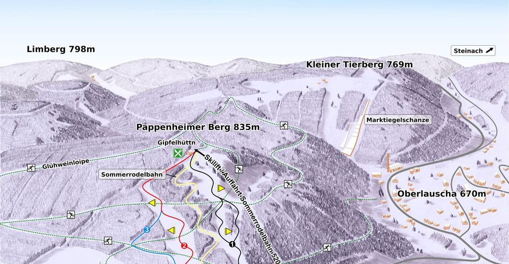 Piste map Ski resort Lauscha - Ernstthal
