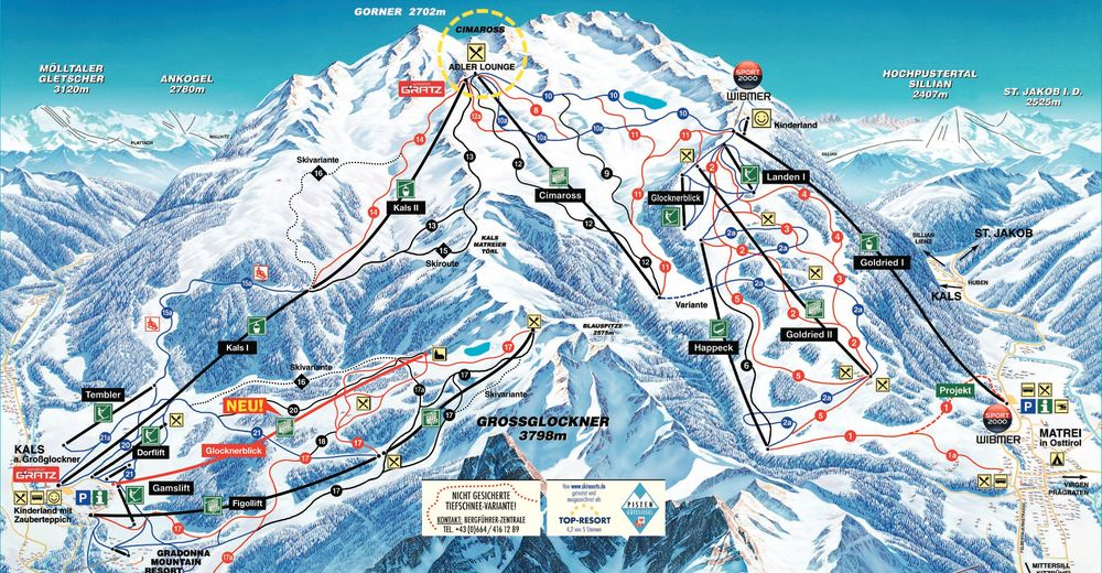 Plan de piste Station de ski Matrei - GG Resorts Kals-Matrei