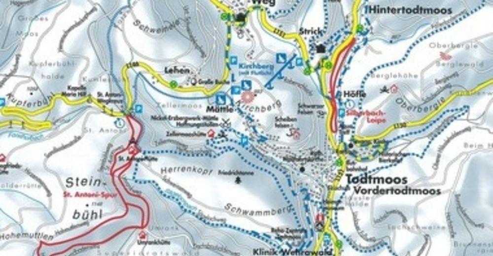 Pistenplan Skigebiet Herrenschwand - Todtmoos