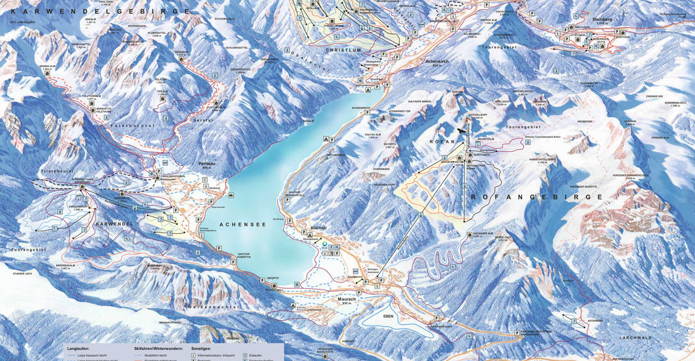 Piste map Ski resort Achensee