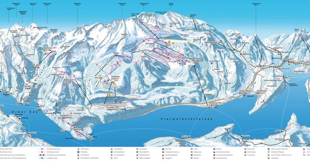 Pisteplan Skigebied Klewenalp - Stockhütte