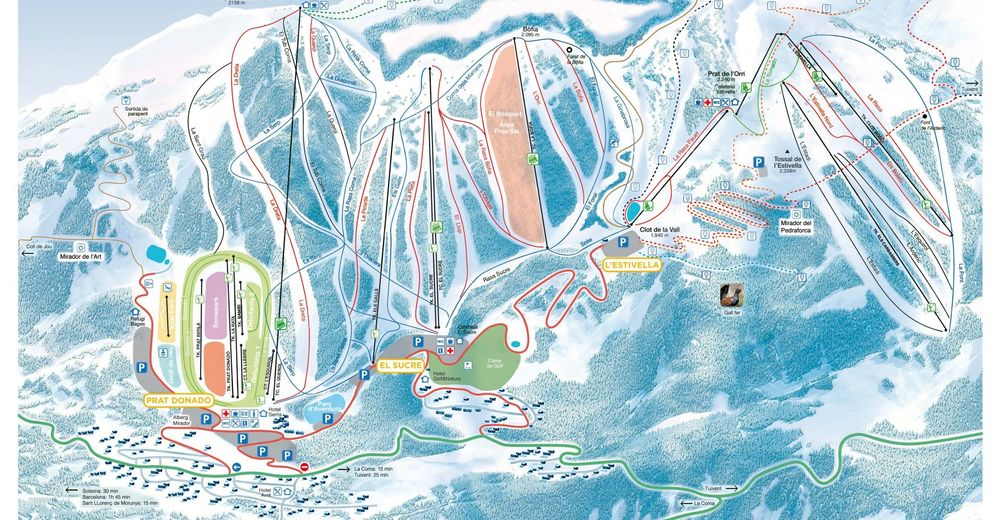 Plan de piste Station de ski Port del Comte