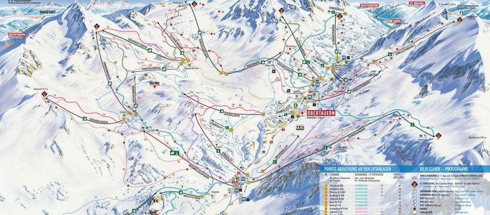 Loipenplan Obertauern - Gnadenalm - Tweng