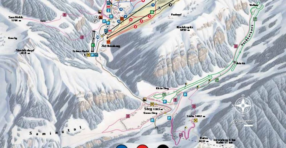 Piste map Ski resort Malbun