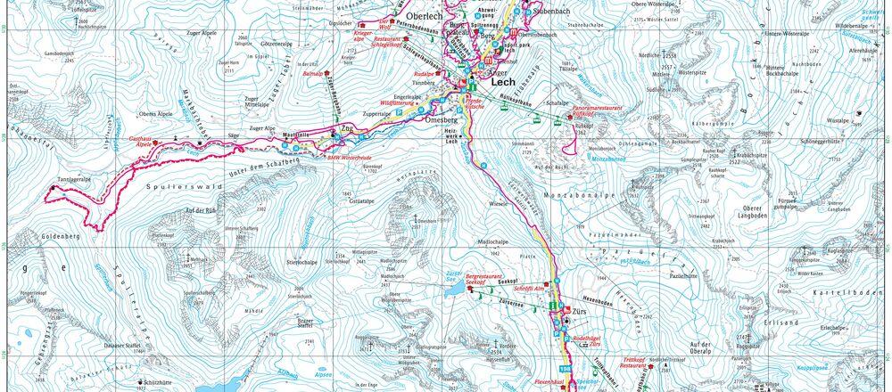 Loipenplan Lech Zürs am Arlberg