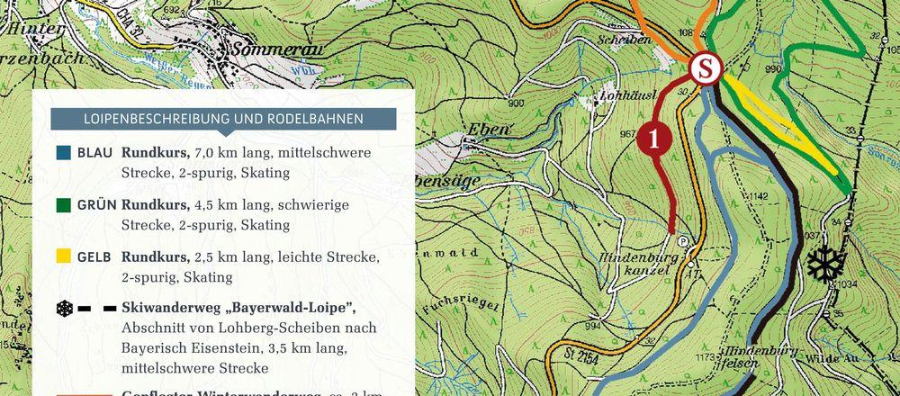 Loipenplan Lohberg - Scheiben