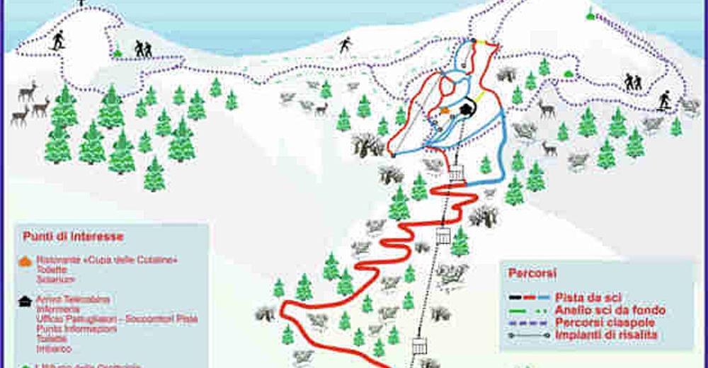 Pistenplan Skigebiet Monte Acuto / Monte Catria
