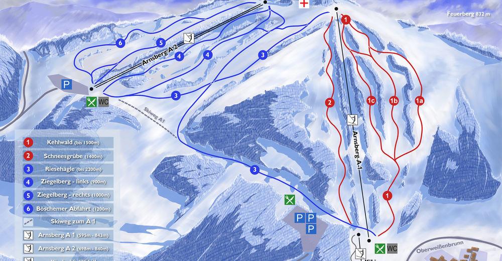Pistenplan Skigebiet Arnsberglifte