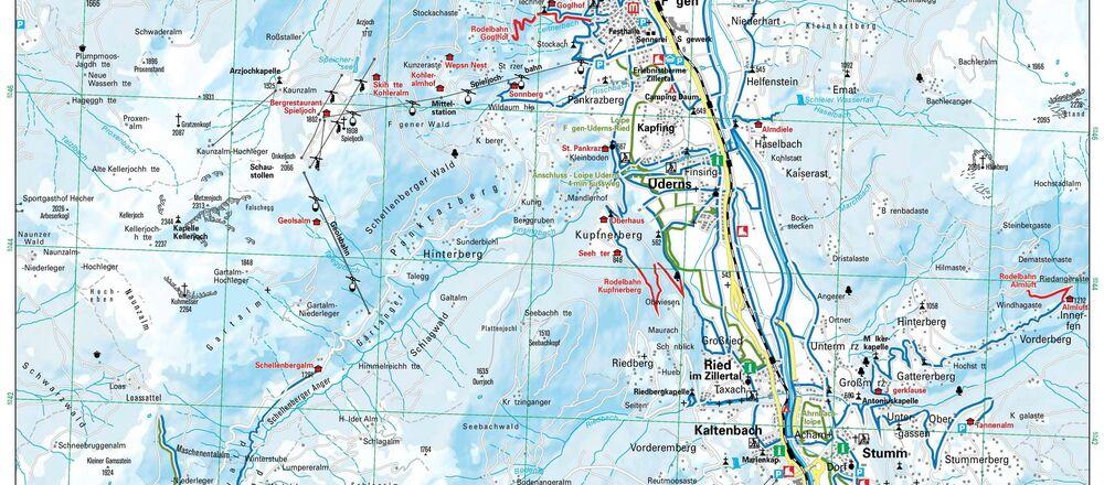 Loipenplan Erste Ferienregion im Zillertal