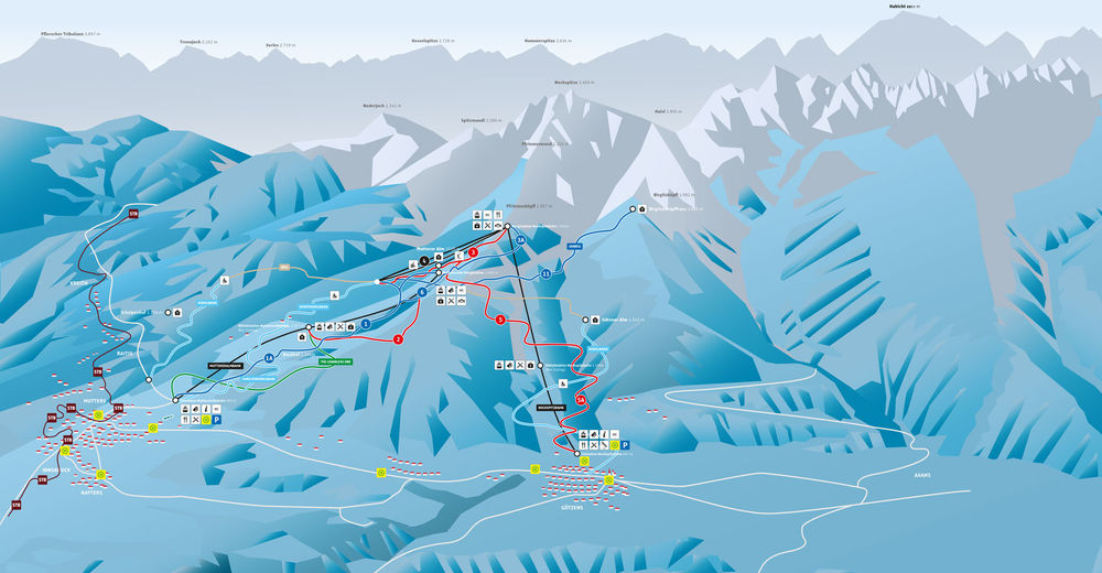 Piste map Ski resort Muttereralm