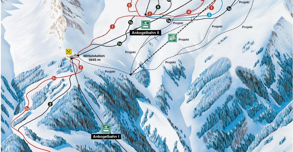 Pisteplan Skiområde Ankogel - Mallnitz