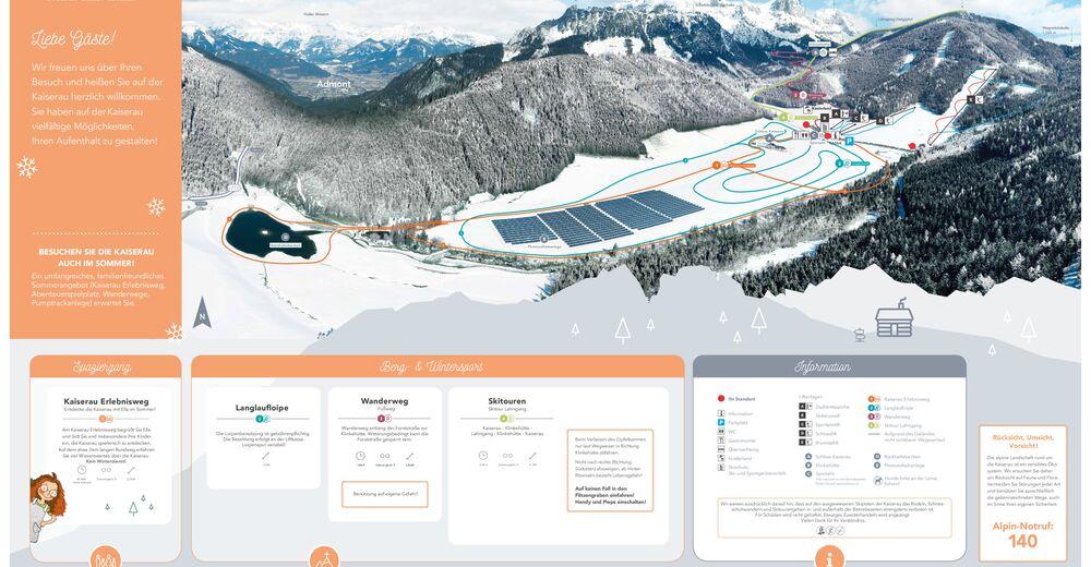 Plano de pista Estación de esquí Kaiserau - Admont - Schneebären