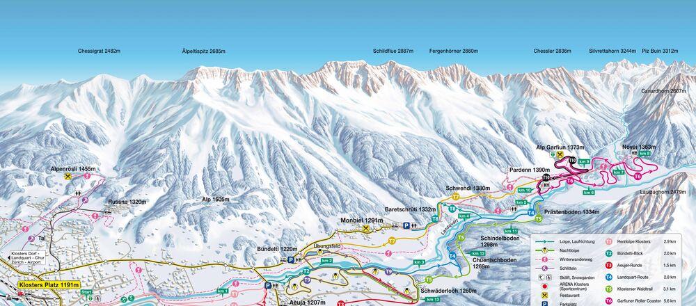Loipenplan Davos Klosters