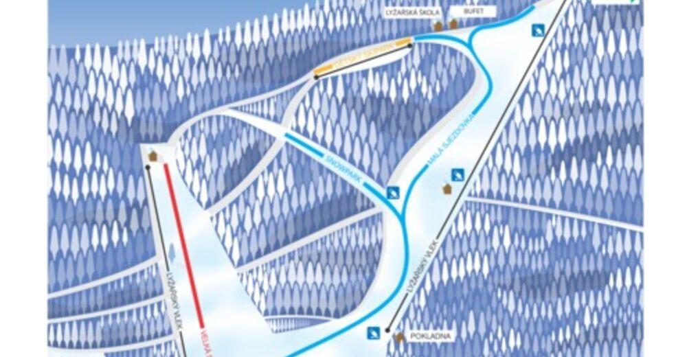 Pisteplan Skiområde Pyšná