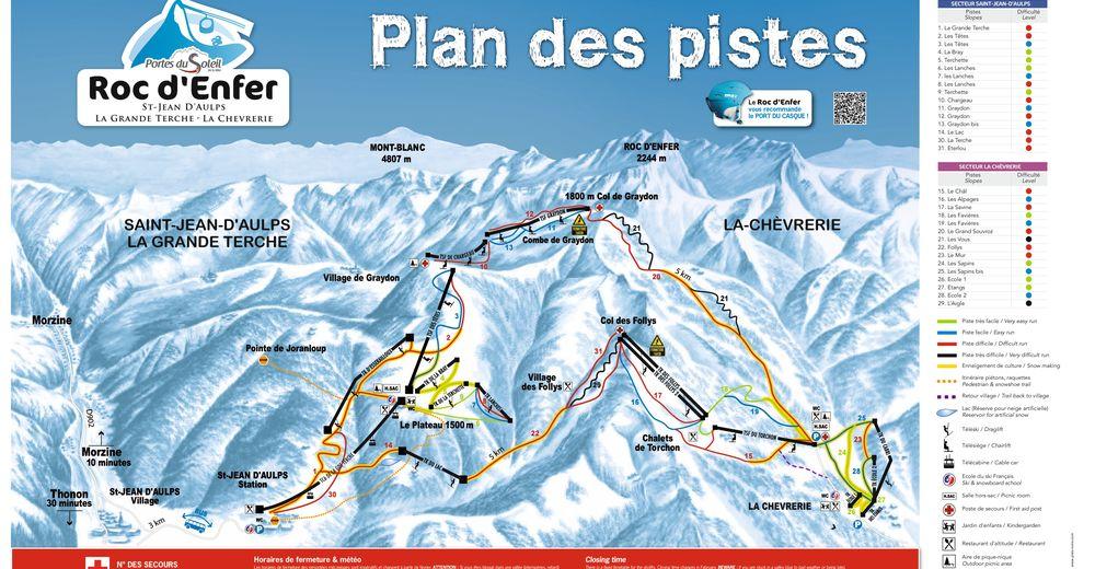 Bakkeoversikt Skiområde Saint-Jean-d'Aulps - Roc d'Enfer / Portes du Soleil