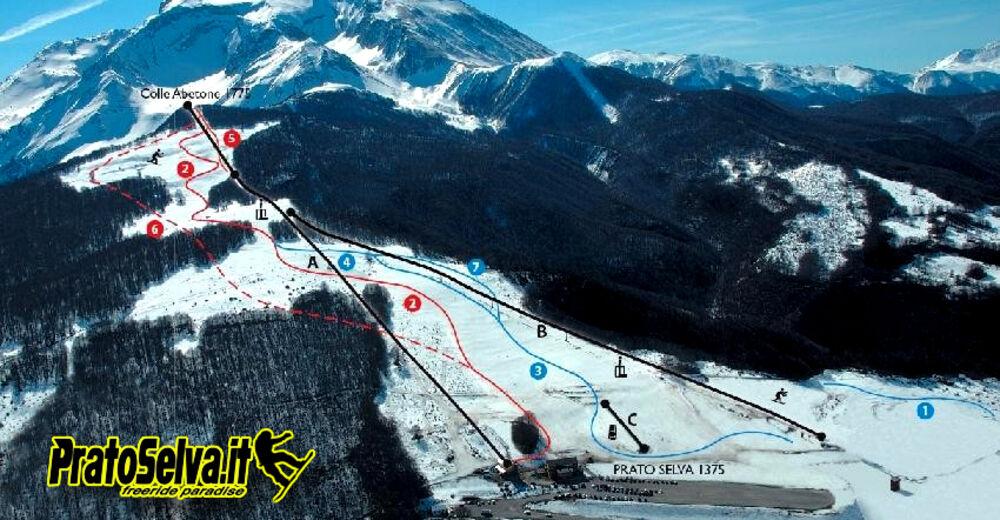 Pistenplan Skigebiet Prato Selva