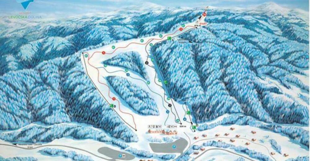 Planul pistelor Zonă de schi Ski Centre Levoča