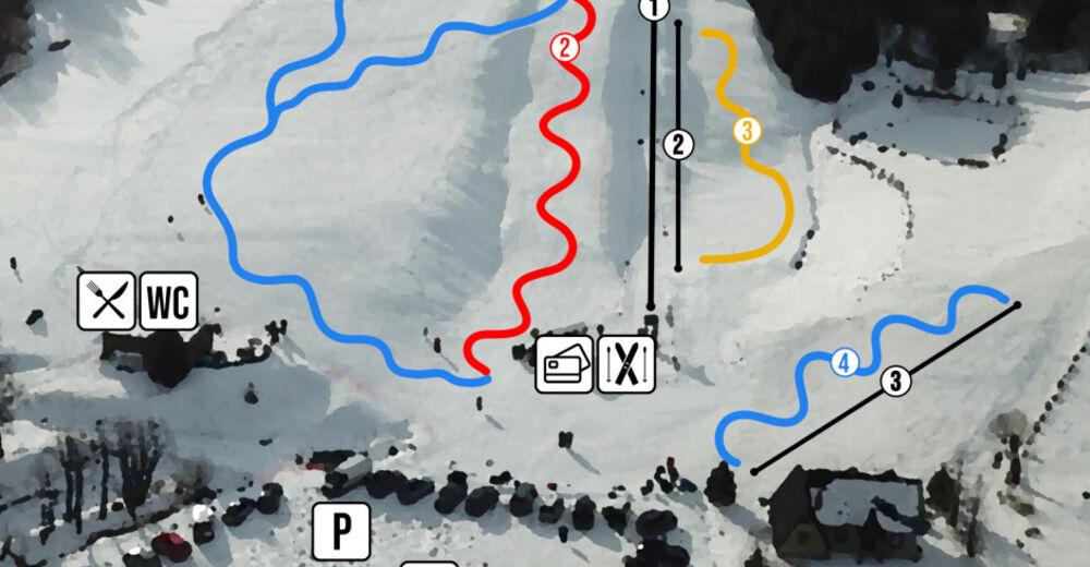 Plan de piste Station de ski Kalnica
