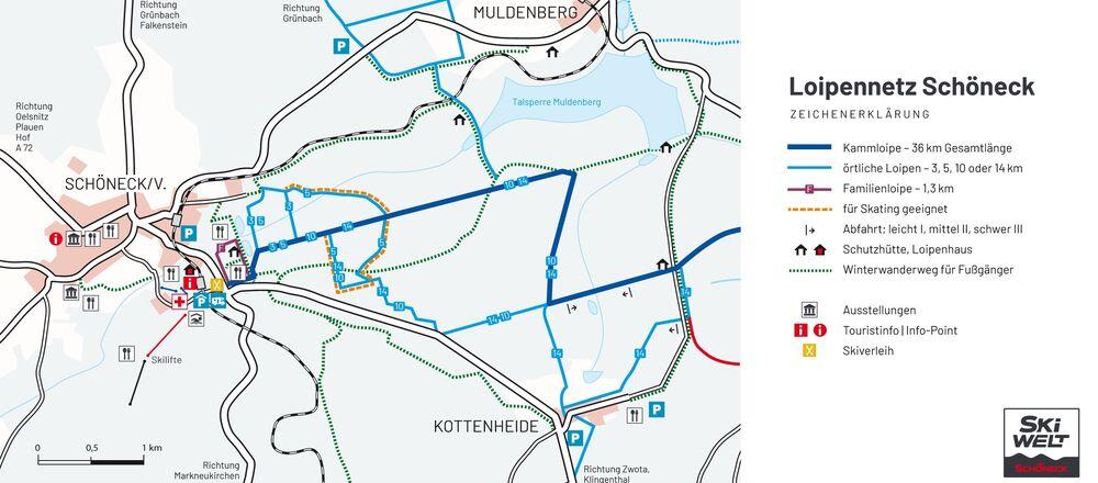 Loipenplan Schöneck / Vogtland