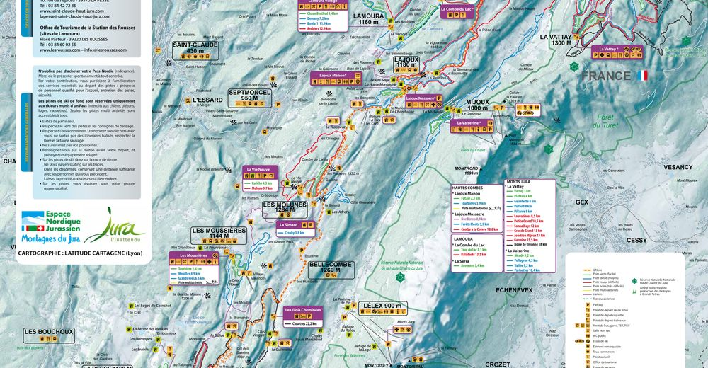 Plan de piste Station de ski La Pesse