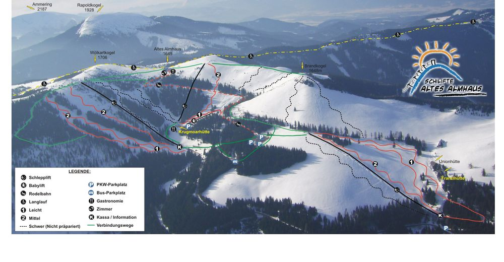 Piste map Ski resort Altes Almhaus