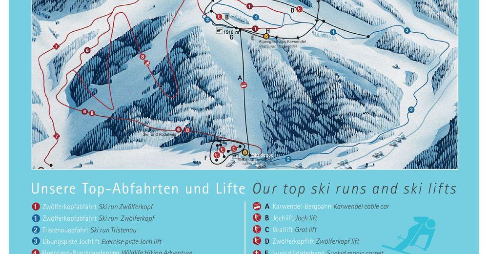 Pistenplan Skigebiet Karwendel-Bergbahn Pertisau – Achensee