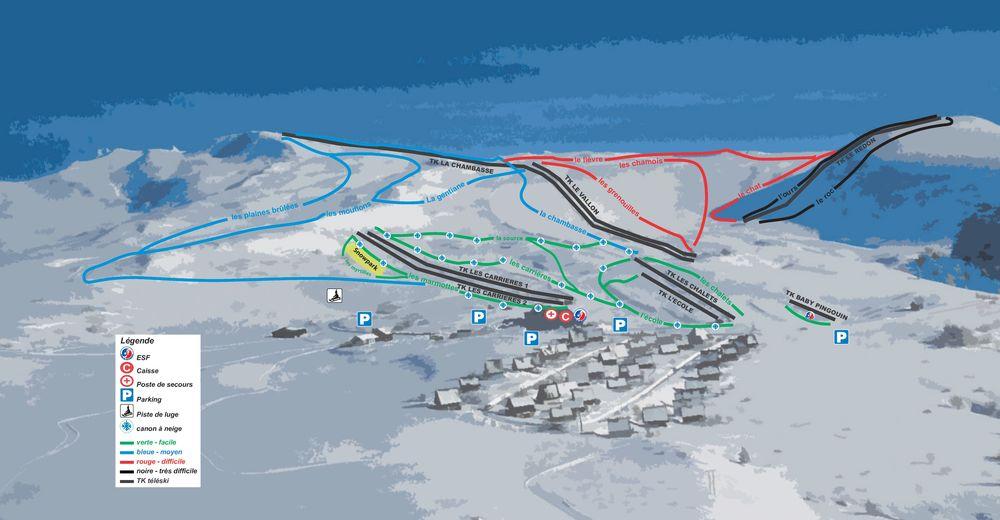 Piste map Ski resort Chastreix-Sancy Massif du Sancy