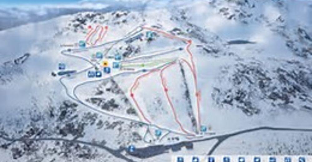 Plano de pista Estación de esquí Punto de Nieve de Santa Inés