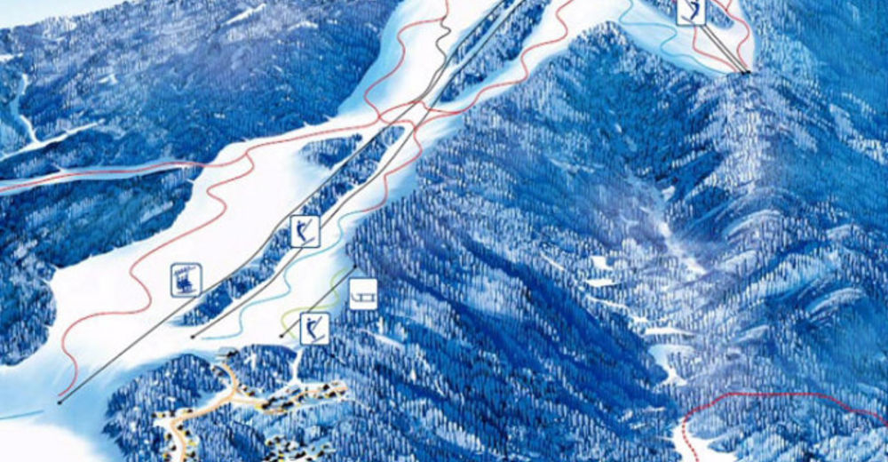 Mapa zjazdoviek Lyžiarske stredisko SC Gače