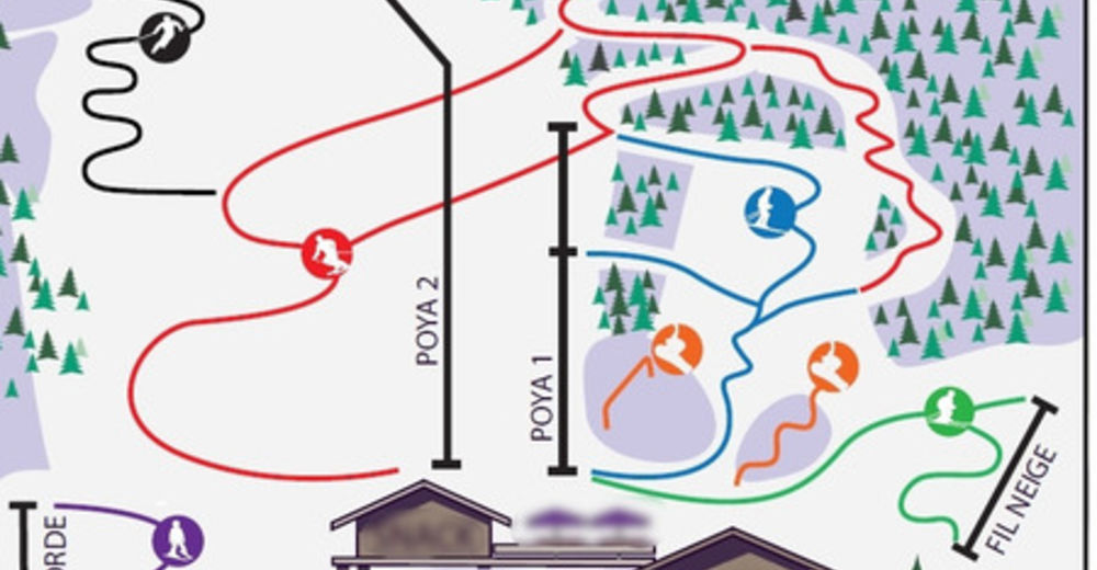 Plan skijaških staza Skijaško područje La Poya - Vallorcine