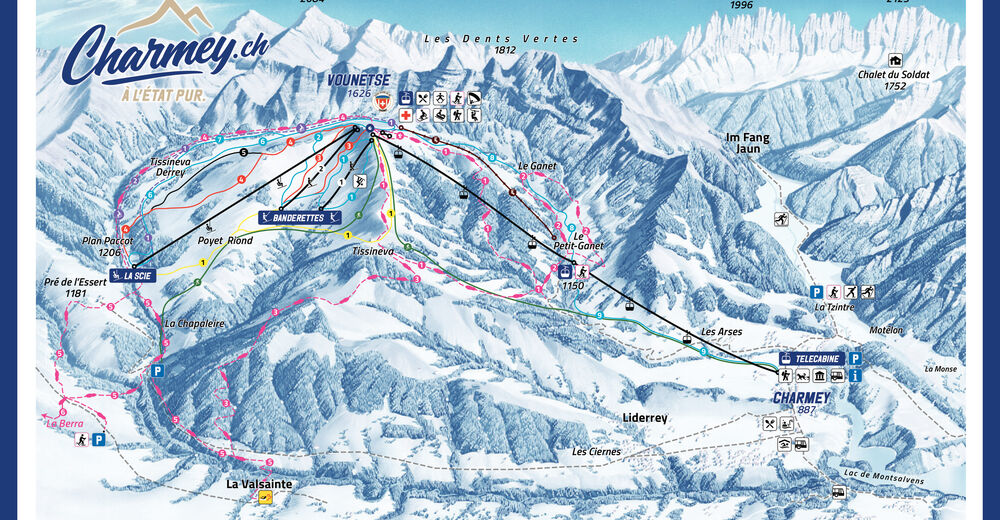 Pistenplan Skigebiet Charmey
