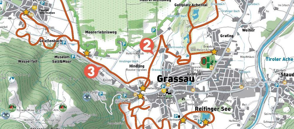 Loipenplan Grassau - Rottau
