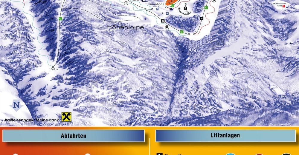 Pisteplan Skigebied Simonhöhe - Sankt Urban
