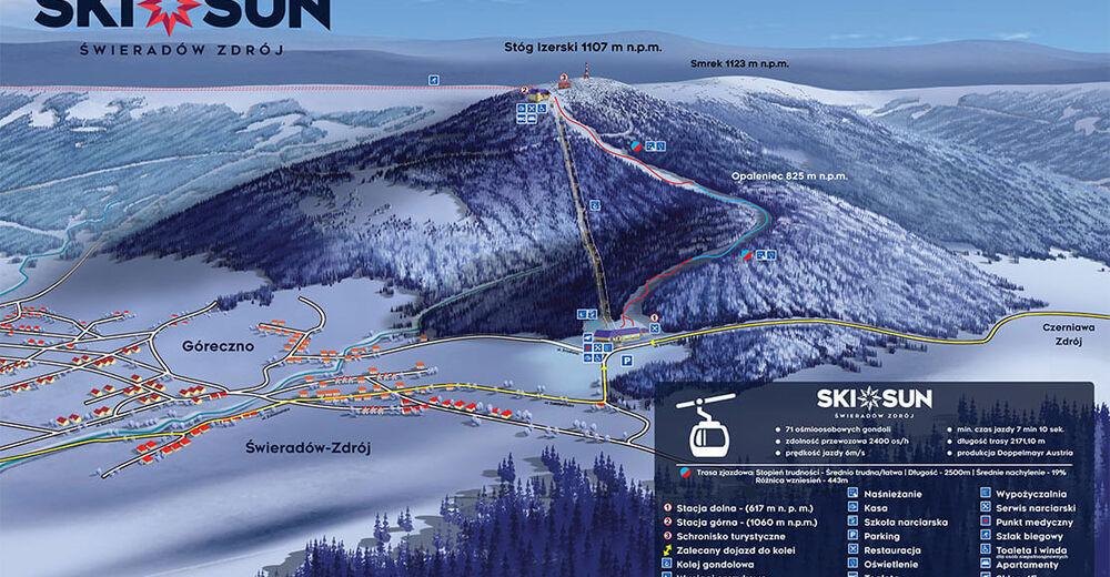 Pisteplan Skigebied Ski&Sun Świeradów Zdrój
