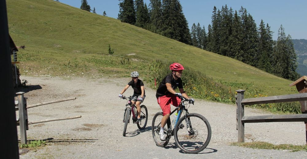 Radweg Tannheimer Tal Radwandern BERGFEX Radfahren