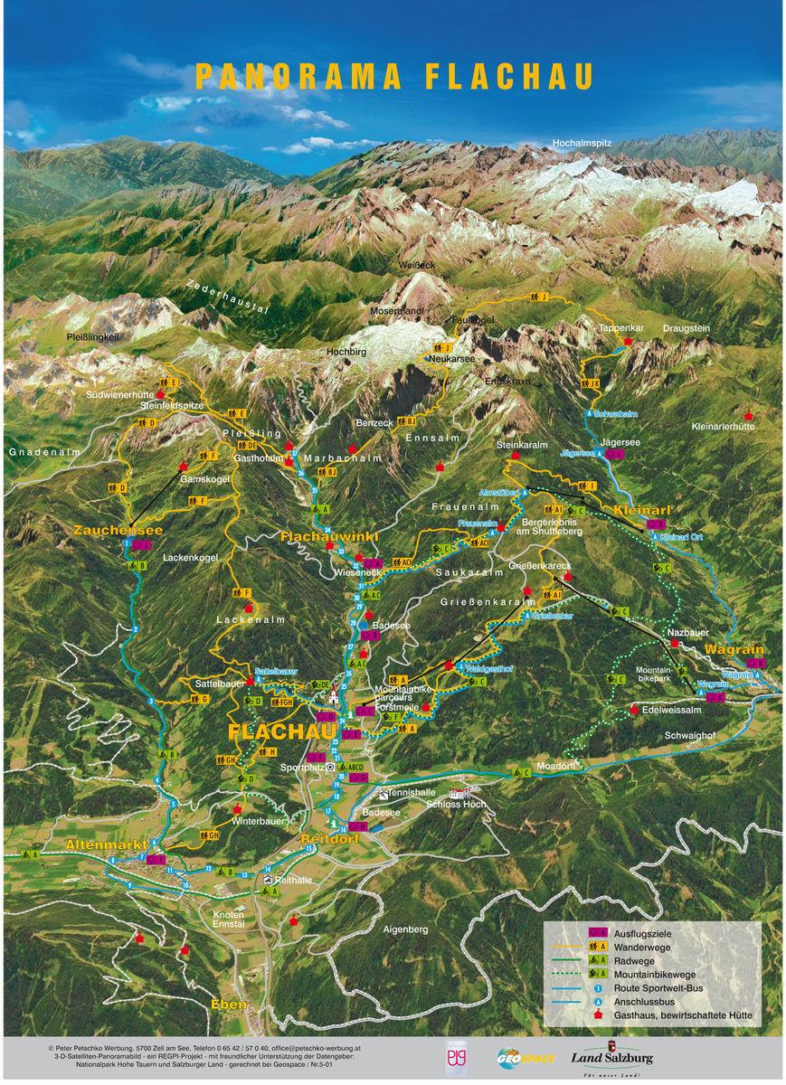 Bergfex Panoramakarte Flachau Karte Flachau Alm Flachau