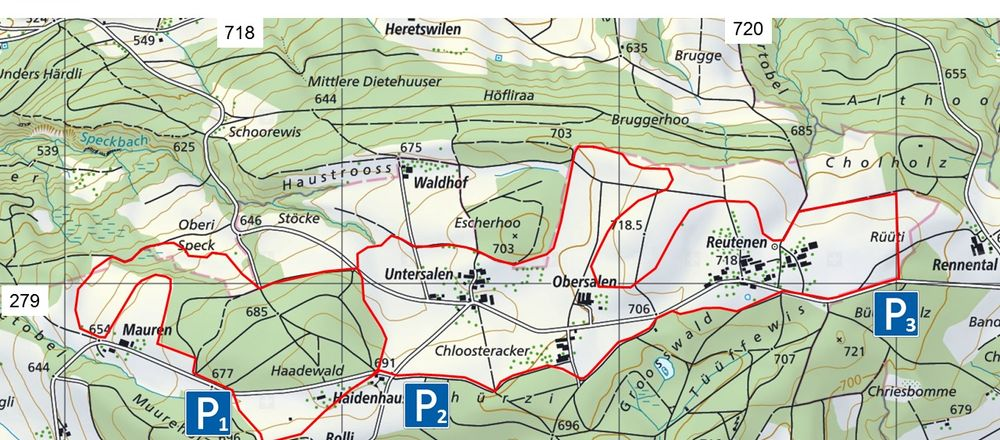 Loipenplan Seerücken / Haidenhaus, Salen - Reutenen