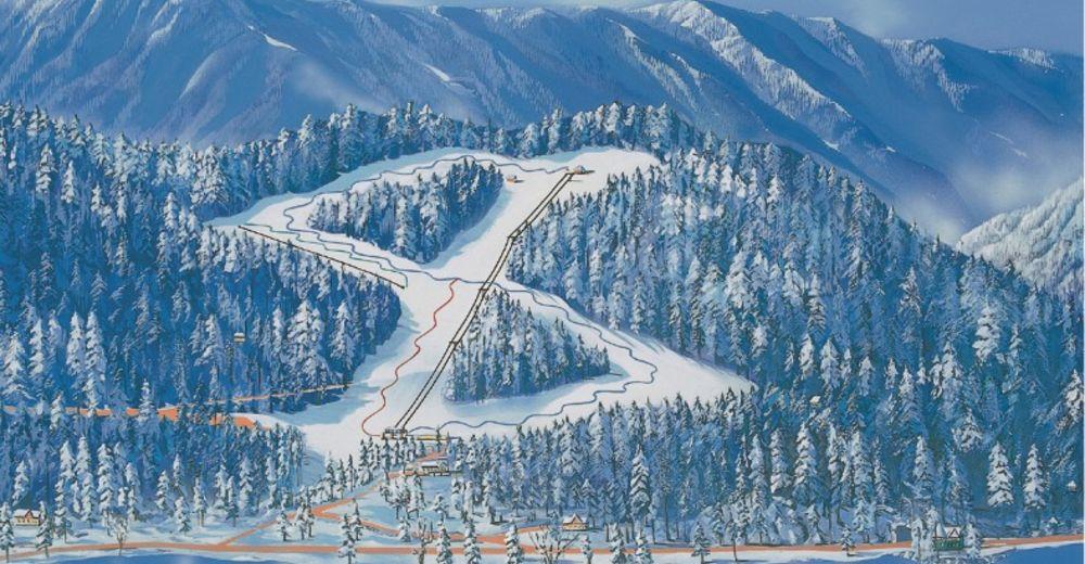 Planul pistelor Zonă de schi Straža Bled