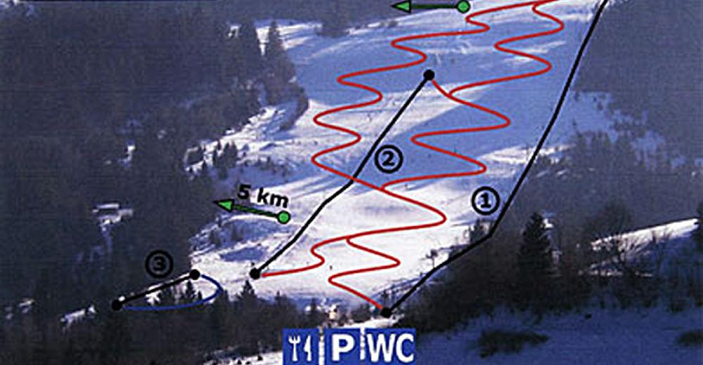 Planul pistelor Zonă de schi Brodok - Poráč